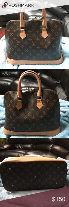 PRE LOVED LV SATCHEL 😛👜 I can upload more photos if anyone is interested of flash pictures of the inside I never used this I got it hammy downed price firm this is not authentic letting go for 100$ limited time only 39 min left Louis Vuitton Bags Satchels