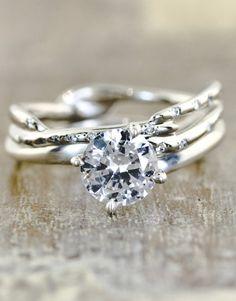Twig inspired wedding ring
