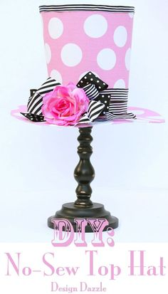 DIY: No Sew Top Hat Decoration! Made with poster board and fabric scraps - Design Dazzle