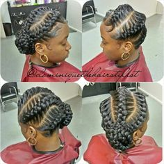 Braided Natural Hair Updo Pinner Braided Updo natural hair Image Size 540 x 541 Board Name Braided H Braided Updo Natural Hair, Natural Hair Styles, Short Hair Styles, Goddess Braid Styles, Goddess Braids Updo, Goddess Hair, Cornrows Updo, Beautiful Braids, Gorgeous Hair