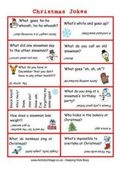 Christmas Jokes Cards