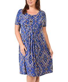 Loving this Dark Blue Scoop Neck Dress - Plus Too on #zulily! #zulilyfinds