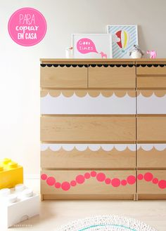 I have these exact dressers (they're from Ikea, of course). I should try this