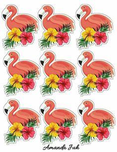 Flamingo Party, Flamingo Decor, Flamingo Birthday, Pink Flamingos, Aloha Party, Luau Party, Parisian Party, Homemade Stickers, Tropical Party
