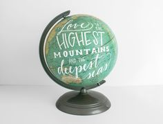 Hey, I found this really awesome Etsy listing at https://www.etsy.com/listing/208003361/world-globe-10in-painted-globe-blue