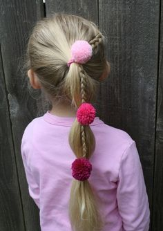 OMG! I know a few girls that would absolutely LOVE these Pom Pom Ponytail Holders :)