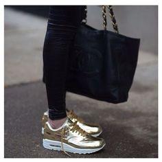 Gold kicks #gold #nike