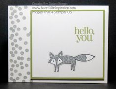 Debra Burgin, Life in the Forest, Hello you fox, general greeting card, Regarding Dahlias, Dotty Angles, paper piecing
