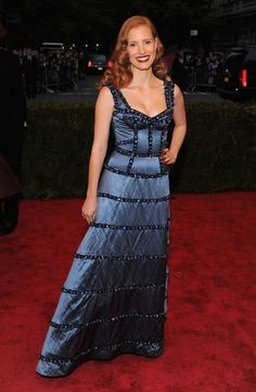 Jessica Chastain at the 2012 Met Gala