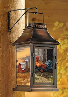 Rooster Candle Lantern