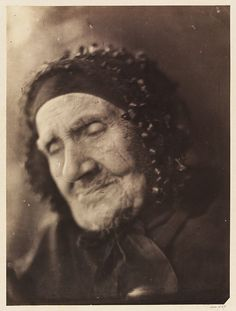 """Aged 94 Taken on the Anniversary of her 72d Wedding day."" 1865. By Julia Margaret Cameron. The old woman is named Sarah Groves. V & A Museum."