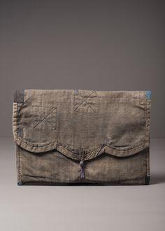 J.Auger design | Nepalese fabric pochette | Remade | Vintage cloth | Repair mending | JA-PRODUCT-3-160