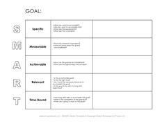 Personal Smart Goal Worksheet Template  Smart Goals Worksheet