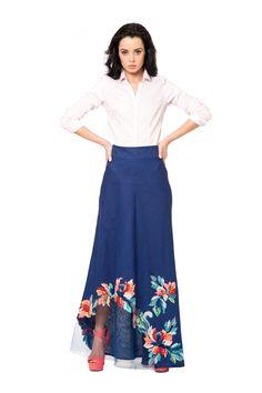 """Юбка - сарафан """"Аэлита"""" - Юкостайл. Магазин дизайнерской одежды оптом и в розницу."""
