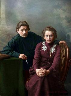 Максим Горький с женой Екатериной Пешковой.