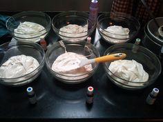 The beginning of my first Rainbow cake....