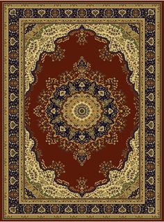 Silk Persian Area Rugs Red 8x12 Living Rug