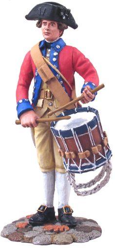 W Britain Soldier 18031 American Revolution Virginia State Garrison Drummer - Exclusive Item