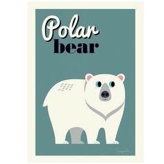 Kidsdinge Ingela polar bear poster from www.kidsdinge.com #Speelgoed #Cadeautjes #Kinderkamer #Kids #Kinderkameraccessoires #Onlineshop #Brasschaat