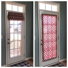 Excited to share this item from my shop: Magnetic Shade - No Hardware - Fits Doors with Window to the outside molding edge Magnetic Roman Shade for Metal Door Front Door Curtains, Front Doors With Windows, Small Doors, Diy Curtains, Curtains With Blinds, Bay Windows, Curtain For Door Window, French Doors Patio, Patio Doors