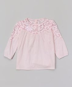 Loving this Blossom Couture Pink Lace Top - Infant, Toddler & Girls on #zulily! #zulilyfinds