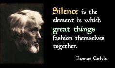 Thomas Carlyle Silence