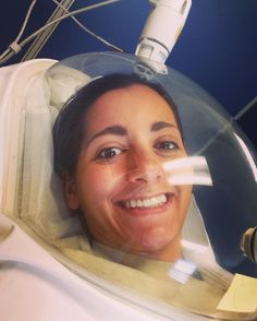 "thatgirlwhorunsBreathing through a ""bubble"" doing metabolic testing this morning through the Army Wellness Center!"