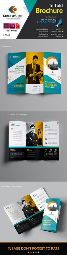 Printable Tri Fold Brochure Template Square Trifold Brochure Template  Brochure Template Brochures And .