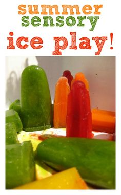Ice is nice for sensory play on a sunny summer day! Create a sensory tub for the garden or bath that babies, toddlers and preschoolers can enjoy.