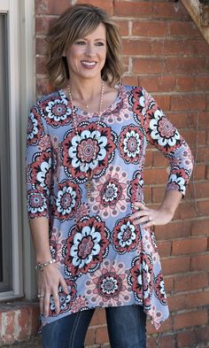 Flower Power Tunic from Paisley Grace Boutique