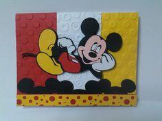 Disney card Disney Birthday Card, Birthday Cards For Boys, Happy Birthday Cards, Disney Christmas Cards, Disney Cards, Homemade Birthday Cards, Homemade Cards, Disney Scrapbook Pages, Scrapbook Cards