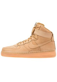 f9800fa0284 AIR FORCE 1  07 LV8 - Sneakersy wysokie - flax outdoor green light brown    Zalando.pl 🛒