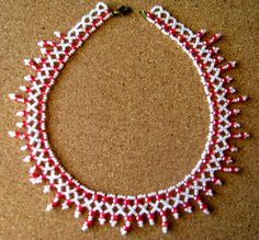 Free pattern for pretty beaded necklace Summer Week.  U need:    seed beads 10/0 – 11/0    seed beads 6/0 – 8/0  - See more at: http://beadsmagic.com/?p=2833#more-2833