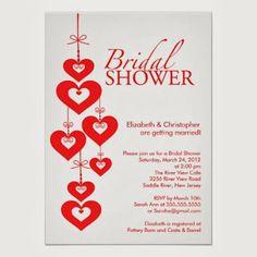 Valentine Wedding Shower Invitation. http://memorablewedding.blogspot.com/2013/12/need-valentine-themed-wedding-shower.html