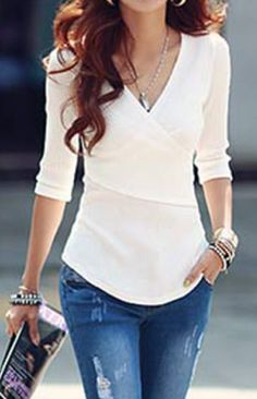 stylish v-neck top