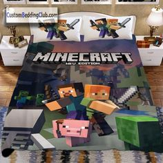 If you love this game, you should have a Minecraft bed set at home! Visit our website to see all our Minecraft bedding designs! Childrens Bedroom Decor, Boys Bedroom Decor, Bedroom Ideas, Minecraft Bedding, Minecraft Room, Light Games, Bed Sets, Diy Bed, Cool Beds