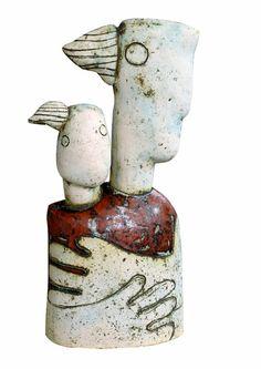 "Stella Zadros, ceramic sculpture- ""Maternity I"", 2005, 65 cm (h), www.stellaart.com"
