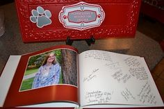 Photo book with lots of space to sign! Love it!