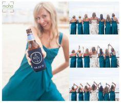 Customized bride and groom beer koozies | A Beachy Catalina Island Wedding | MoHa Photography
