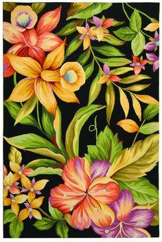Safavieh Chelsea Chelsea HK212A Black Rug | Country & Floral Rugs #RugsUSA