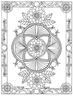 beautiful zentangle and mandala design Pattern Coloring Pages, Mandala Coloring Pages, Colouring Pages, Coloring Books, Free Adult Coloring, Adult Coloring Book Pages, Printable Adult Coloring Pages, Paper Embroidery, Embroidery Patterns