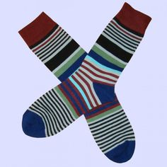 Multi Coloured Socks, Brown Socks, Striped Socks, Colorful Socks, Fashion Socks, Cotton Socks, Stripes Design, Brown And Grey, Calves