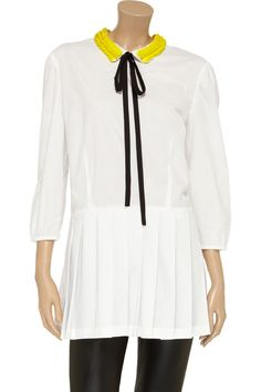 Marni Paillette-embellished cotton top - 59% Off Now at THE OUTNET