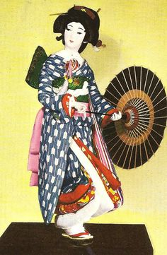 Okaru: This Japanese doll represents a character in a Kabuki play.