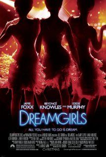 """Dreamgirls"" (dir. Bill Condon, 2006) --- Based on the Broadway musical by Tom Eyen, a trio of black female soul singers (played by Beyoncé Knowles, Jennifer Hudson, and Anika Noni Rose) cross over to the pop charts in the early 1960's. The story is loosely based on the life of Diana Ross from her days as a member of the Supremes, and also parallels Beyoncé's own career with Destiny's Child."
