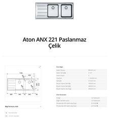 Aton ANX 221 Paslanmaz Çelik franke   franke Aton ANX 221 Paslanmaz Çelik