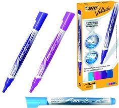BIC Velleda Fashion Whiteboard Marker - Assorted (Pack of 4)