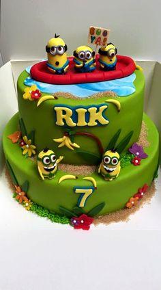 Minion cake!  Made by Angelique Bond