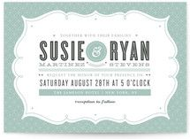 Modern Label Wedding Invitations, by Kristen Smith