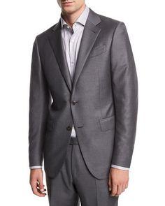 Ermenegildo Zegna Solid Trofeo® Wool Two-Piece Suit 83dff4d114e